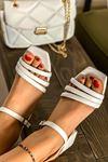 Kadın Biyeli Klasik Topuklu Ayakkabı-beyaz